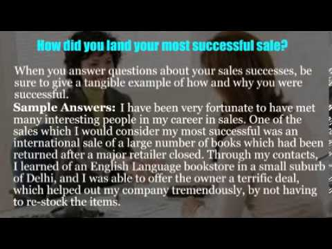 Area sales manager interview questions - YouTube