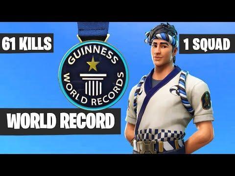 61 KILLS By One Squad - Fortnite WORLD RECORD