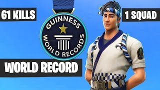 61 KILLS By One Squad - Fortnite WORLD RECORD
