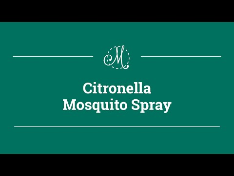 DIY Citronella Mosquito Spray