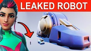 ROBOT STAGES 1-8 BEING BUILT! *LEAKED* ROBOT vs MONSTER EVENT! FORTNITE ROBOT TO SCALE!