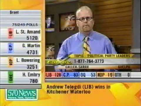 Rogers Television coverage of the 2004 Canadian Federal ...