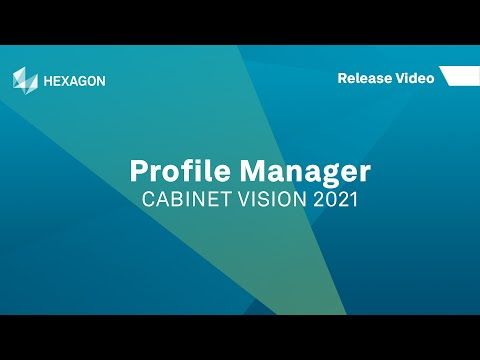 Profile Manager | CABINET VISION 2021
