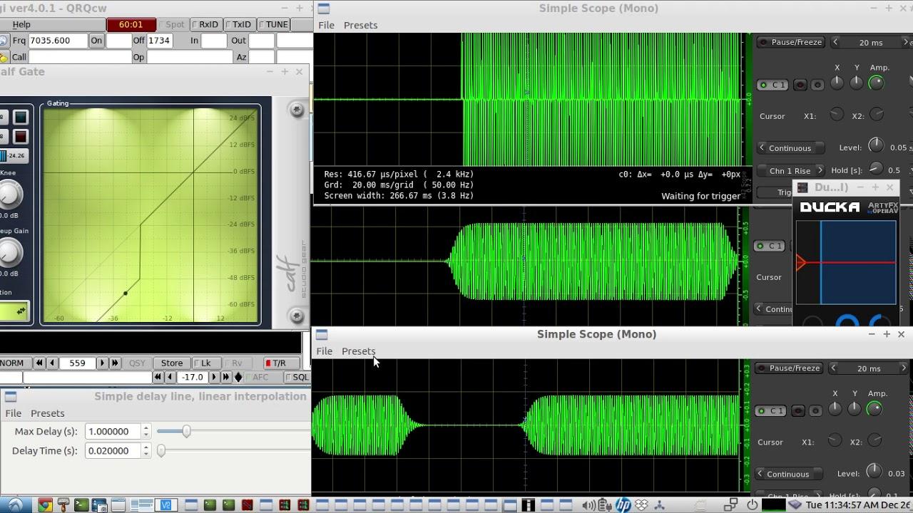 Remote Rig Control Audio Experimental Setup Using A Basic Vox Circuit Controls Ptt Raspberry Pi Hf Cw Qso Demo