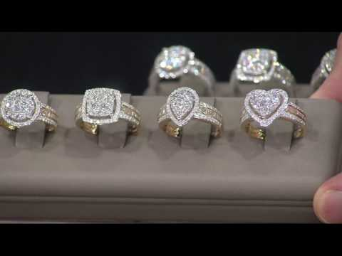 1.00-cttw-cluster-diamond-ring-14k-gold-by-affinity-on-qvc