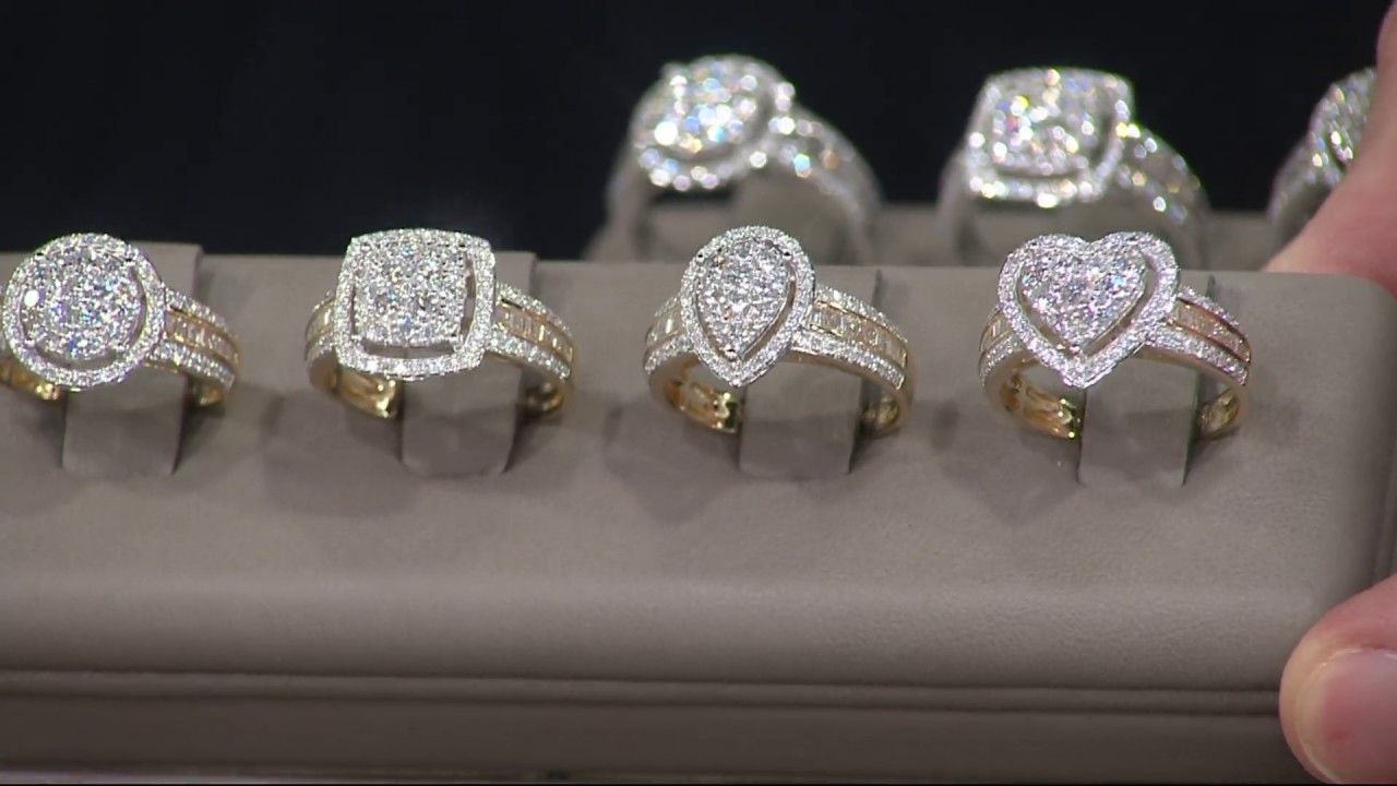 1 00 Cttw Cluster Diamond Ring 14k Gold By Affinity On Qvc Youtube
