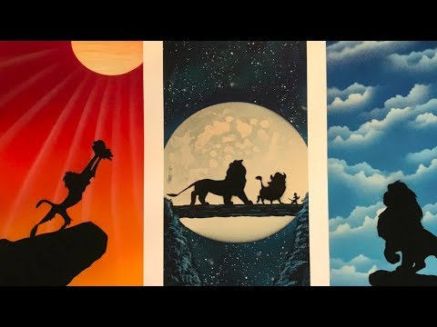 Simbas Journey – The Lion King Spray Paint Art by Jon Barber Art