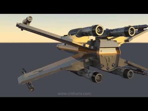¿Quieres construir una nave de Star Wars con Autodesk Maya?
