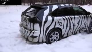 Стильный тюнинг Toyota Harrier автовинил