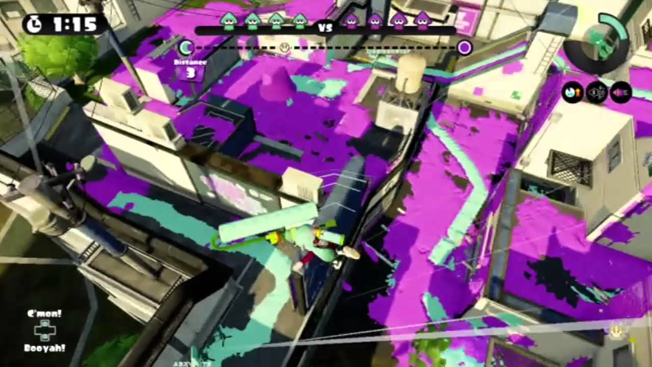 splatoon super jumping with the rainmaker through lag delay youtube