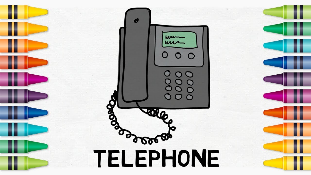 How to Draw an Old Style Telephone, Easy Step-by-Step Drawing