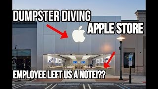 Gambar cover APPLE STORE EMPLOYEE LEFT US A NOTE!! DUMPSTER DIVING APPLE STORE!!