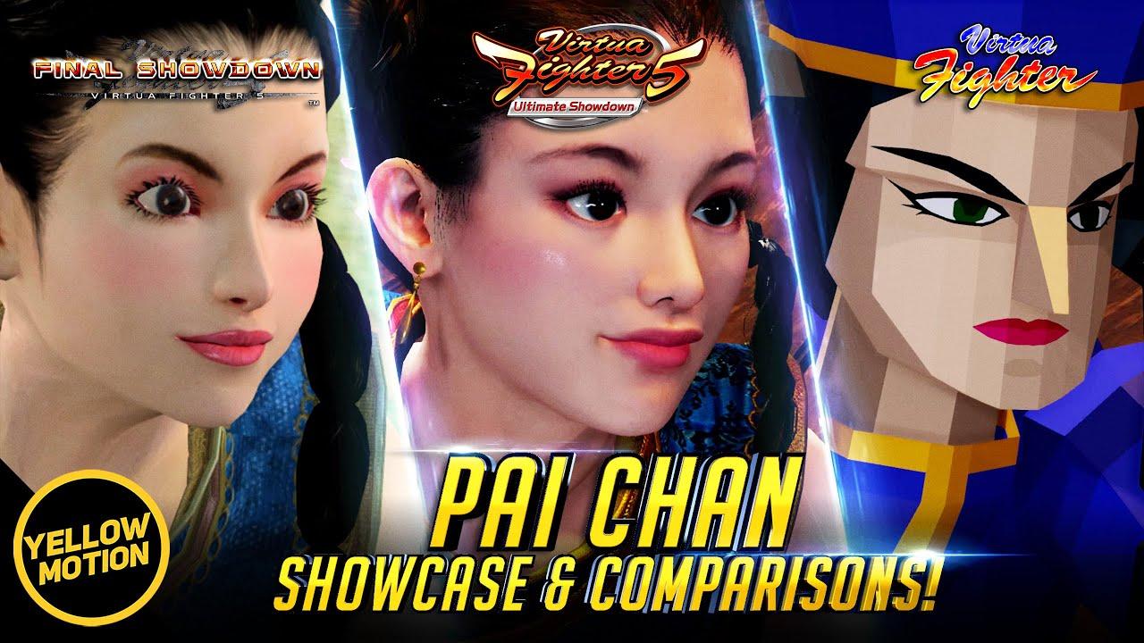 Pai Chan   Showcase & Remaster Comparison [ENG SUB]    Virtua Fighter 5 Ultimate Showdown