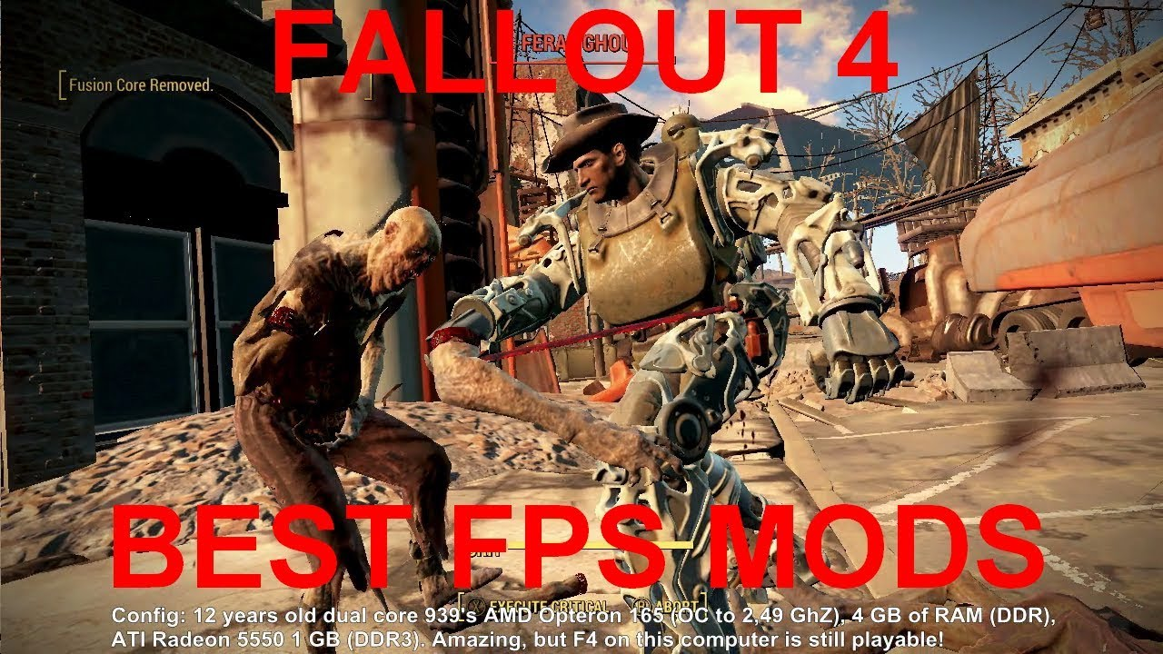 "Extreme gaming: Best 5 ""more fps"" mods for Fallout 4 (reupload)"