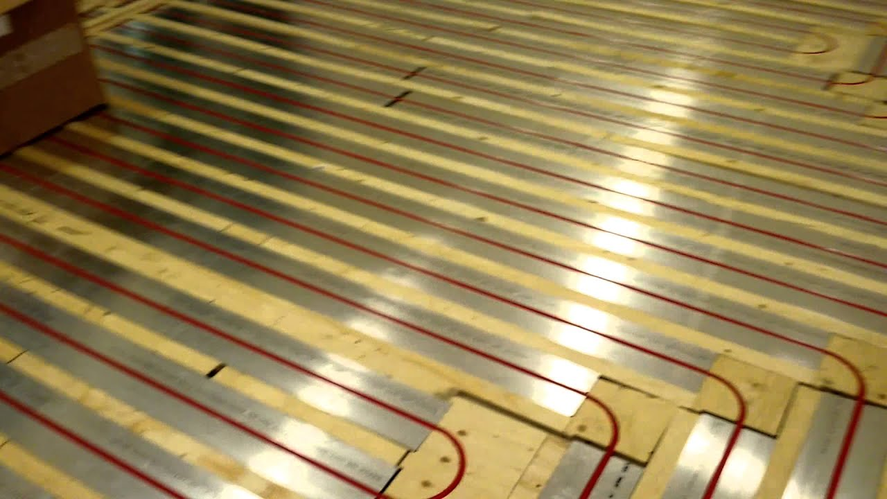 Radiant Floor Heating System Rehau Tako X Block Youtube