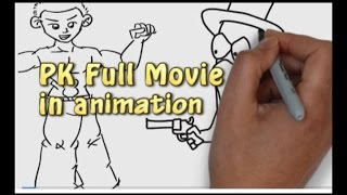 Pk full Movie 2014  - Hindi movie in 12minutes - New Animation Summary Review