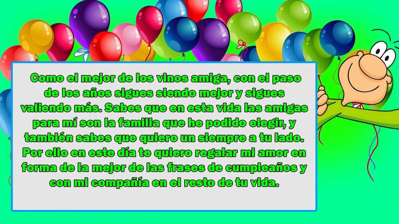 Frases De Cumpleaños Para Una Amiga MUY ESPECIAL Y ALEGRE