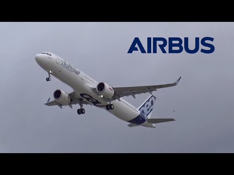 First Airbus A321NEO Takeoff for Maiden Flight