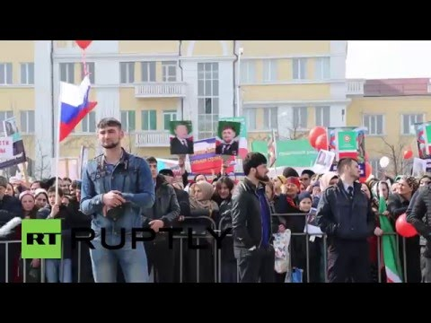 Russia: Thousands celebrate Chechen Constitution Day in Grozny