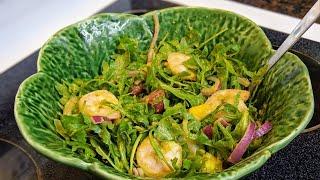 Салат из Рукколы с Креветками, рецепт