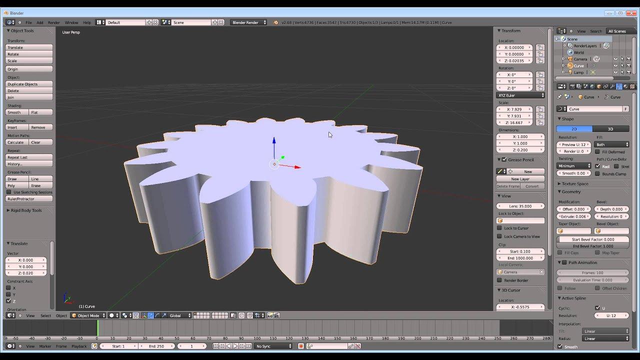 Turn a  svg file into a 3D printable model using Blender