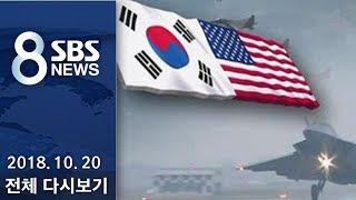 """다시보는 8뉴스  10/20(토) - """"北 비핵화 위해..12월 한미 연합훈련 연기"""" / SBS"""