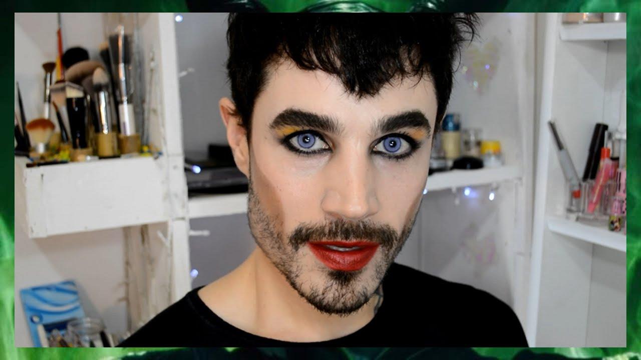 Fabuloso Maquiagem para homens MALÉVOLO - YouTube VK79