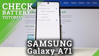 How to Enable Battery Percentage in Samsung Galaxy A71 – Current Battery Level