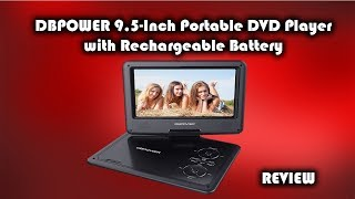 DBPOWER 9.5 Inch Portable DVD Player with Rechargeable Battery Review