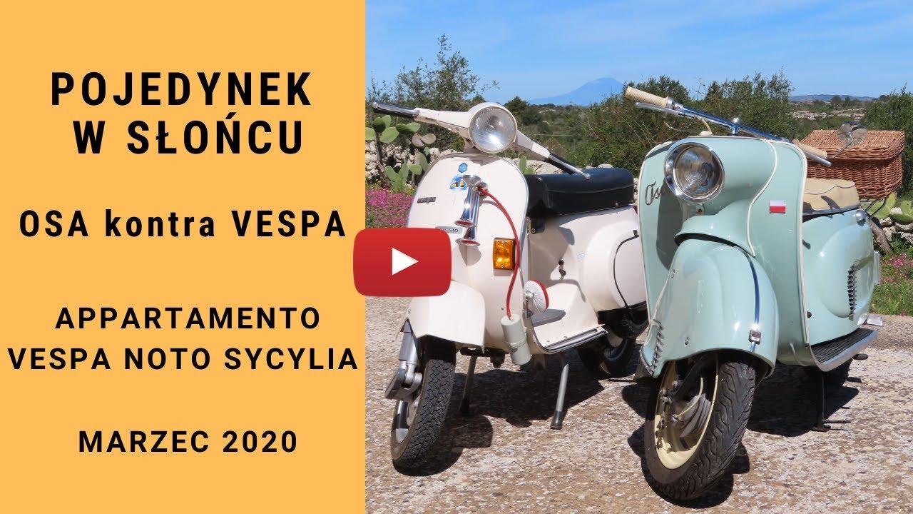 Pojedynek w słońcu. Osa M50 kontra Vespa PK 90. Sycylia.