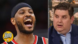 I am stunned that Carmelo Anthony has played this well physi...