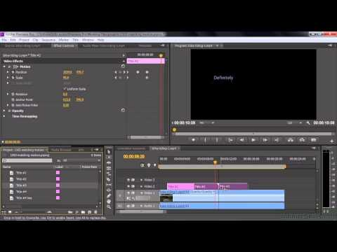 Adobe Premiere Pro CC Tutorial | Matching The Motion Of An Object Within A Clip