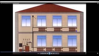 Схема отопления двухэтажного дома с естественной циркуляцией.(, 2015-01-22T10:20:27.000Z)