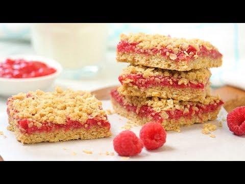 Raspberry Oat Crumble Bars | Easy + Gluten Free Summer Baking