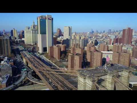Brooklyn Bridge via DJI Mavic Pro Drone New York City