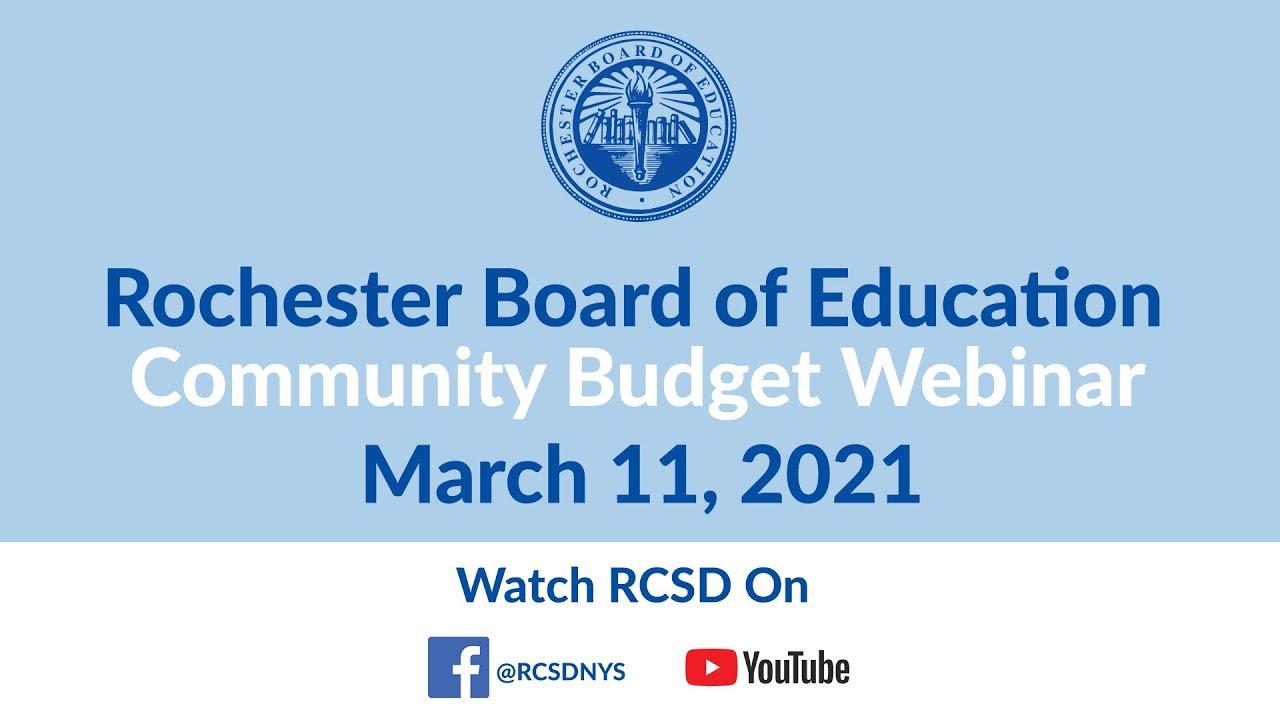 2021 Community Christmas Concert Rochester Rcsd Public Budget Webinar March 11 2021 Youtube
