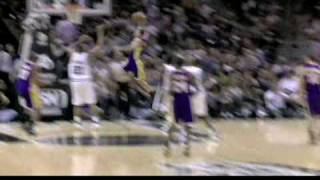 Jordan Farmar Dunk on Tim Duncan