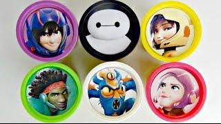 Disney BIG HERO 6 Playdoh Toy Surprises Lids with Baymax