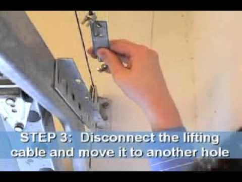 How To Fix Garage Door Tension Youtube