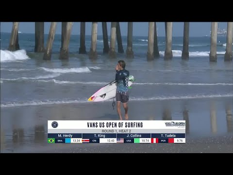 Vans US Open Of Surfing - Men's, Men's Qualifying Series - Round 1 Heat 2
