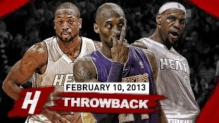When Kobe Bryant Faced PRIME DUO LeBron & Dwyane Wade! EPIC Duel Highlights | February 10, 2013