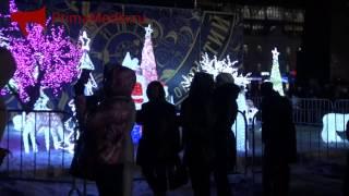 Световое шоу на центральной площади Владивостока