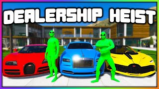 GTA 5 Roleplay - GREEN TEAM DEALERSHIP ROBBERY | RedlineRP