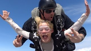 Grandmas Skydive For The First Time