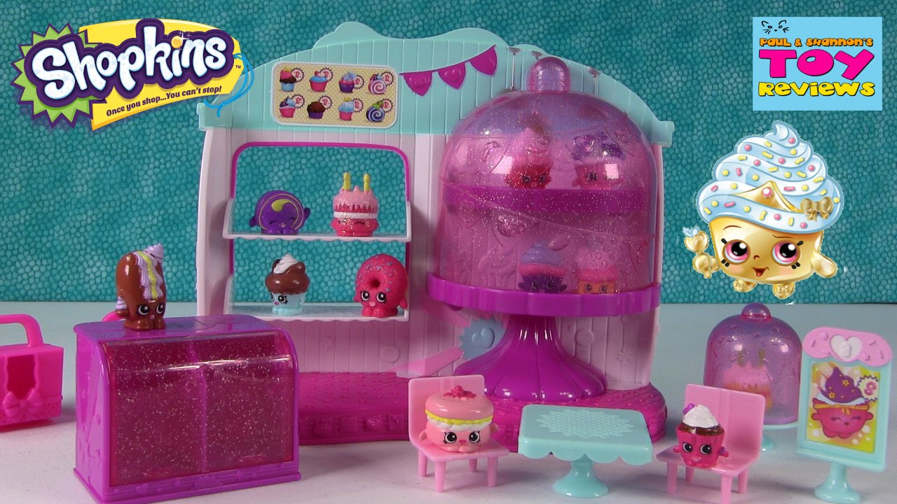 Shopkins Cupcake Queen Cafe Playset | Season 4 Unboxing Toy Review |  PSToyReviews - YouTube