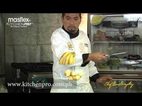 "Chef Gene ""Fruit Ninja"" Knife Sharpness Test with Bunch of Bananas"