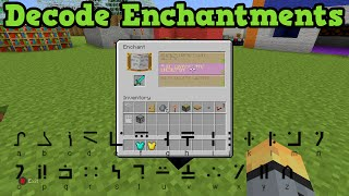 Minecraft Xbox 360 / PS3: How To Read Enchantment Table Text