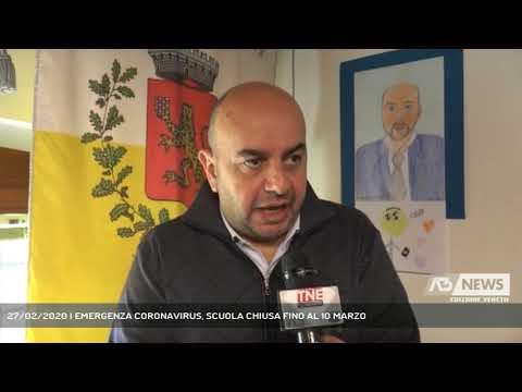 27/02/2020 | EMERGENZA CORONAVIRUS, SCUOLA CHIUSA ...