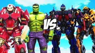 Hulk & Hulkbuster VS Transformers - Optimus Prime, Bumblebee