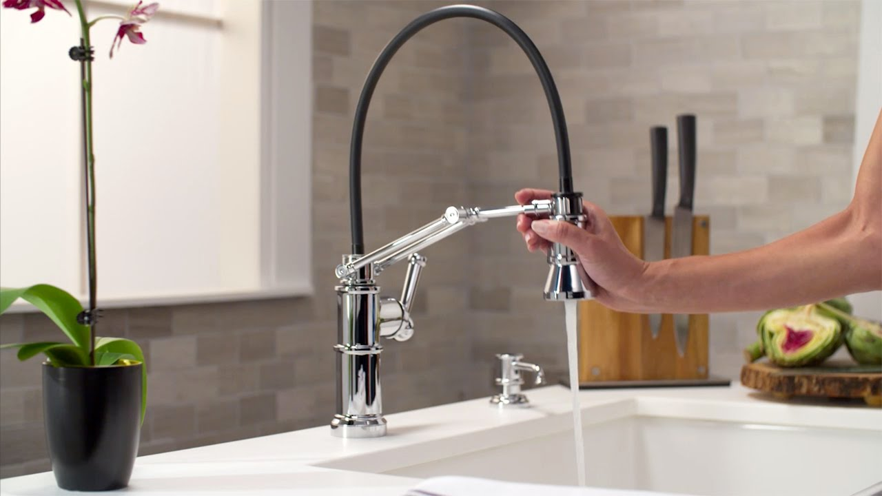 Articulating Kitchen Faucet Contemporary Decor The By Brizo Youtube